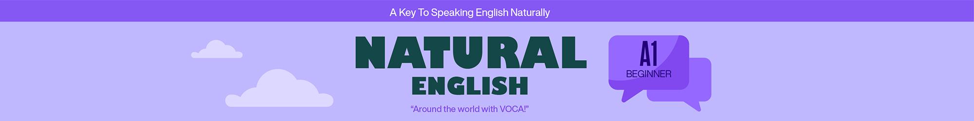 NATURAL ENGLISH A1 banner