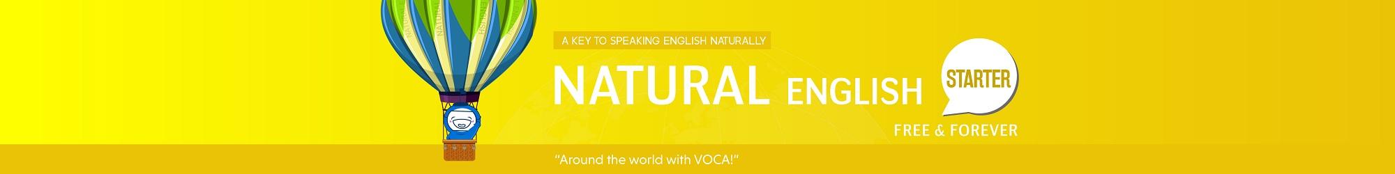 NATURAL ENGLISH (STARTER) banner